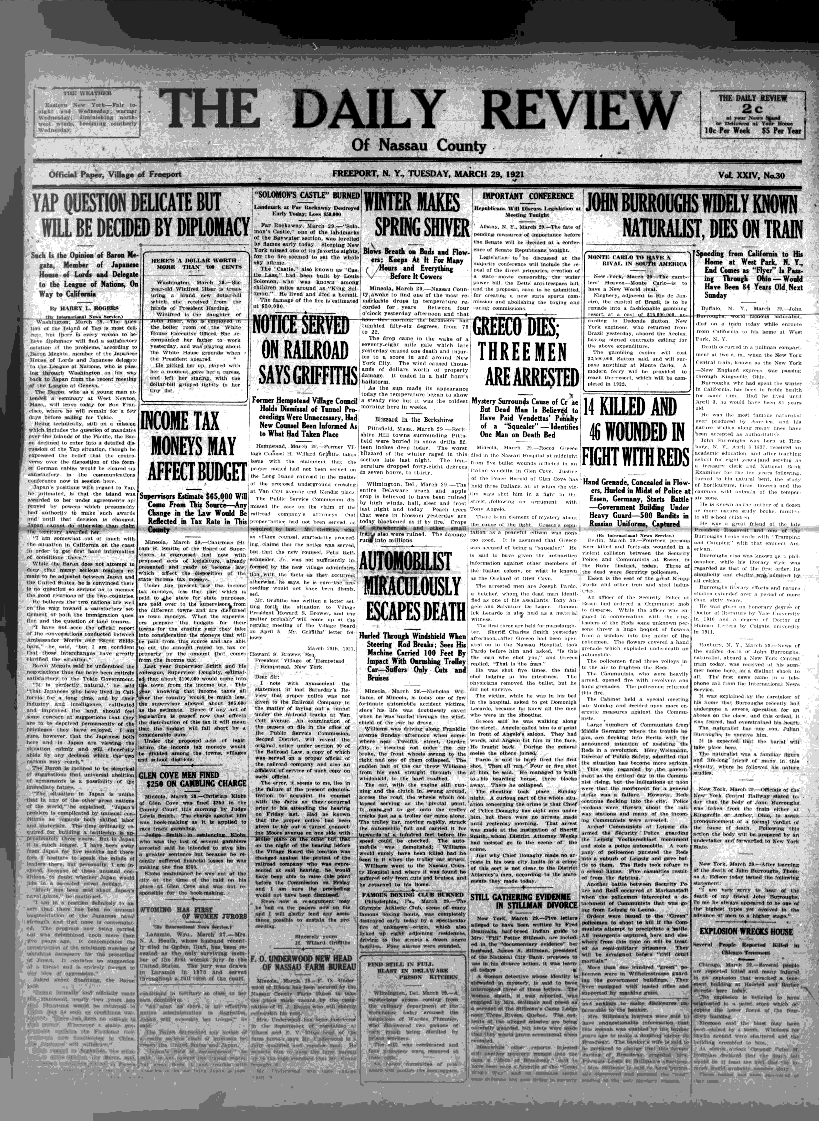 The daily review  (Freeport, N Y ) 1921-1926, March 29, 1921